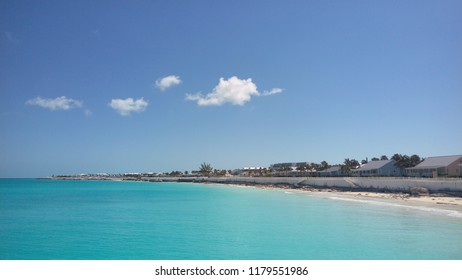 Turquoise water near a beach in Bimini, The Bahamas