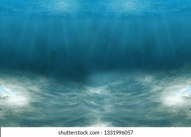 Turquoise Water near to the Sand underneath forming many little waves reflecting the Sun, Thailand