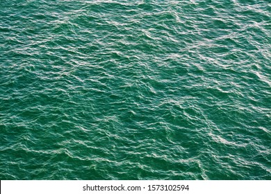 turquoise water undulations of the ocean