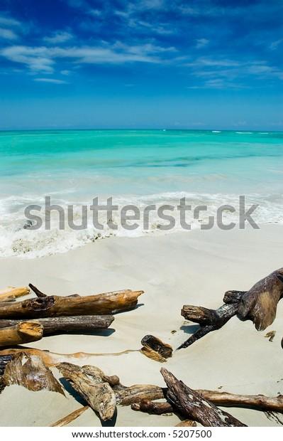 Turquoise white sand beach