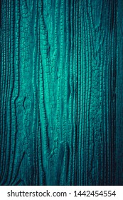 Turquoise wood background with vignette