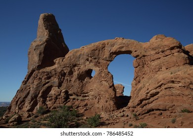Turret Arch in Arches National Park near Moab, Utah