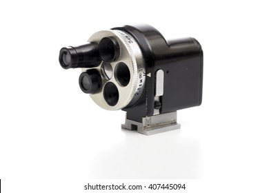 turret viewfinder on the white background