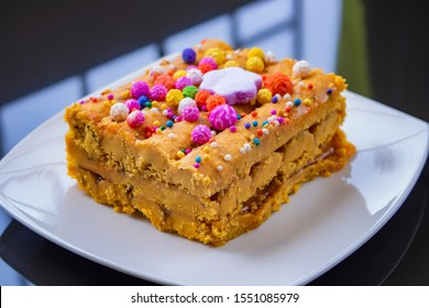 """Turron """"Doña Pepa"""" it a traditional dessert of Lima, served in October and related to the Lord of Miracles"""