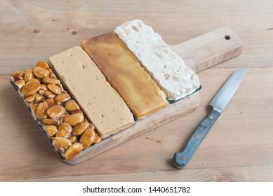 Turron typical dessert spain mixed