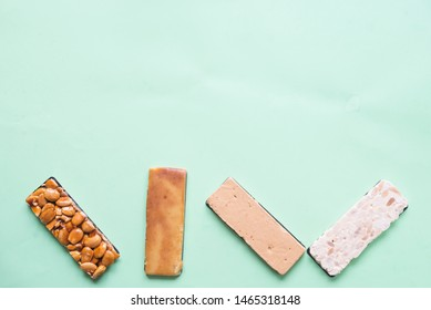 Turron typical dessert spain top view