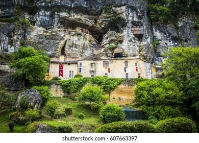Tursac, France - July 21, 2016: Maison Forte de Reignac, Dordogne, Perigord, France, EU, Europe
