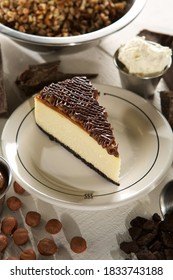 Turtle cheesecake slice, patissierie, bakery