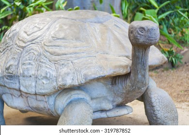 Turtle made of rock