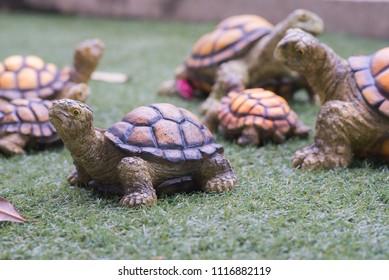 Turtle statue on ground