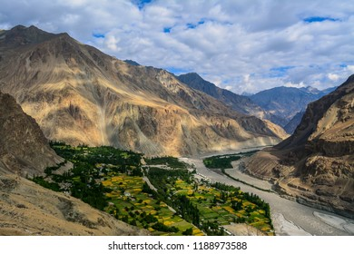 Turtuk is a village in north-eastern part of Ladakh in Jammu and Kashmir, India. It is sandwiched between the Himalaya and Karakoram mountain ranges. It was under Pakistan's control until 1971.