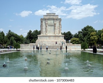 Tus, Iran - July 29, 2016 : Tomb of Ferdowsi, a tomb complex erected in honor of the famous persian poet, located Razavi Khorasan province
