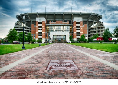 TUSCALOOSA, AL - Sept. 12, 2014: Bryant-Denny Stadium at the University of Alabama in Tuscaloosa on Sept. 12, 2014. The Crimson Tide football team has won 15 national championships.