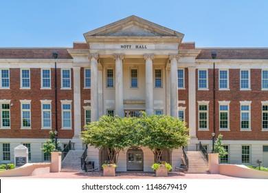 TUSCALOOSA, AL/USA - JUNE 6, 2018: Nott Hall on the campus of University of Alabama.