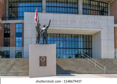 TUSCALOOSA, AL/USA - JUNE 6, 2018: Bryant-Denny Stadium on the campus of University of Alabama.
