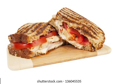 Tuscan chicken panini - grilled sandwich