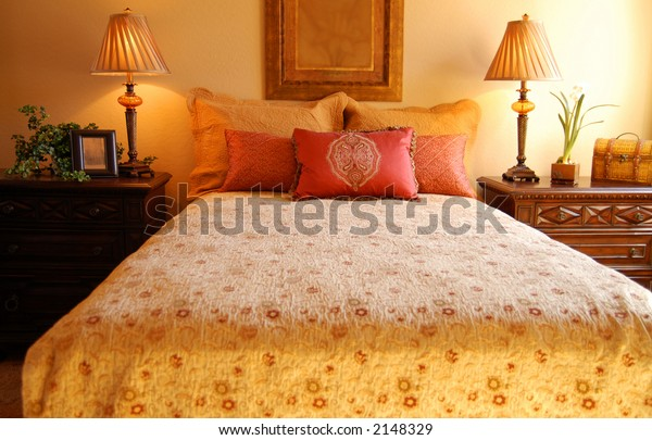 Tuscan Inspired Bedroom Stock Photo (Edit Now) 2148329