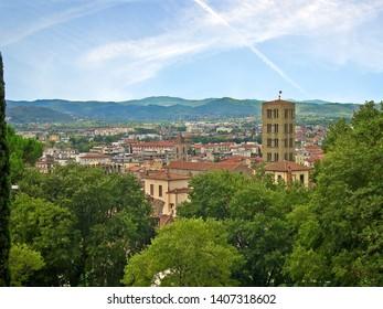 Tuscany, Arezzo, city view from the Prato park.