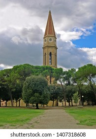 Tuscany, Arezzo, Dome bell tower view from the Prato park.