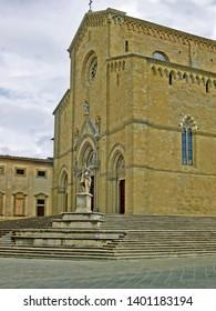Tuscany, Arezzo San Pietro and Donato cathedral in Duome square.