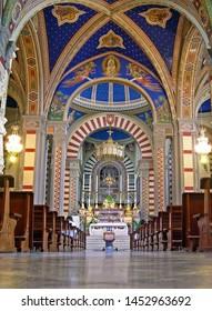 TUSCANY, CORTONA – SEPTEMBER 19, 2006: the wonderful interior of Saint Margaret church. The church was built in the 11th century.