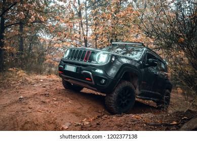 Tuscany, Italy - October 2018: Jeep Renegade
