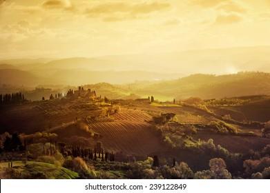Tuscany - Landscape panorama, Toscana - Italy