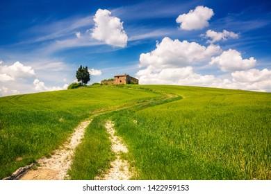 Tuscany landscape at spring , Italy