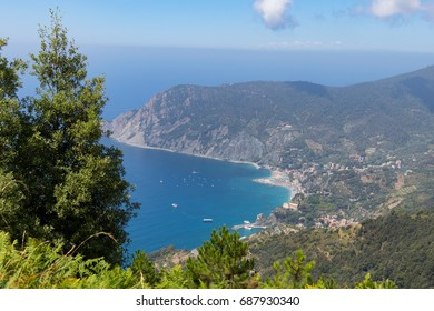 Tuscany Sea view frome above the coast of Cinque Terre
