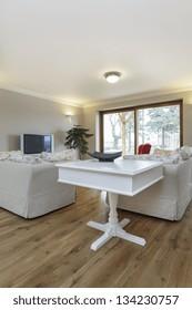 Tuscany - white furniture in beige living room