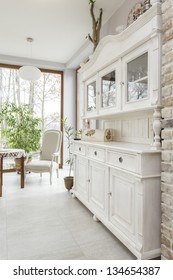 Tuscany - white kitchen commode, classic style