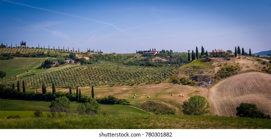 TUSCANY-MAY 31: tuscanian landscape in the beautiful Orcia Valley,Tuscany,Italy,on May 31,2017.