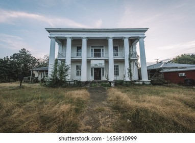 Tuskegee, Alabama/USA - October 11, 2019: Exterior of the Thomas C. Drakeford antebellum house in Tuskegee, Alabama, known for being the oldest and most successful merchant in Macon County