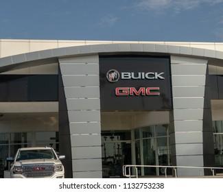 Tustin, CA / USA - 07/12/2018: Buick/GMC Dealership In Tustin, CA