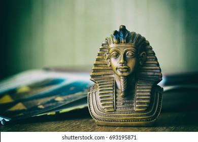 tutankhamon pharaoh/ egyptian god/ travel concept