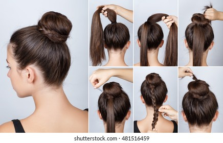 Hairstyles Tutorials Images, Stock Photos & Vectors ...