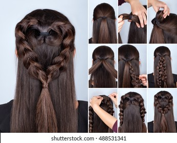 Hairstyle Tutorial Braids Images, Stock Photos & Vectors ...