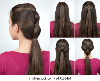 Hair Style Tutorial Images Stock Photos Vectors Shutterstock