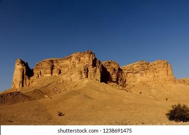 Tuwaiq Escarpment Mountain ranges outside of Riyadh, KSA