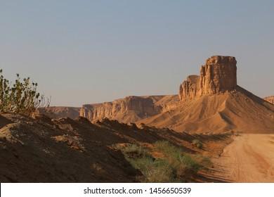 Tuwaiq Escarpment scenery at the outskirts of Riyadh in Saudi Arabia