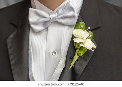 Tuxedo Bowtie and Boutonniere