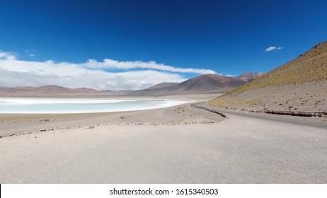Tuyajito lagoon, Aguas Calientes Salt Flat, San Pedro de Atacama, Chile