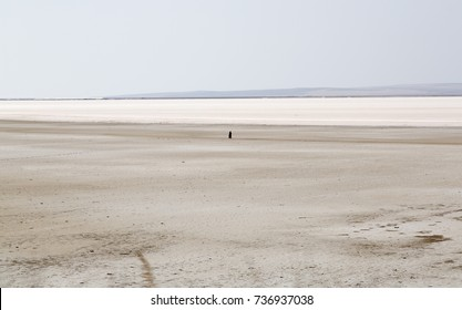 Tuz Golu - Lake Tuz, one of the largest hypersaline lakes in the world, located in the Central Anatolia Region, Turkey.