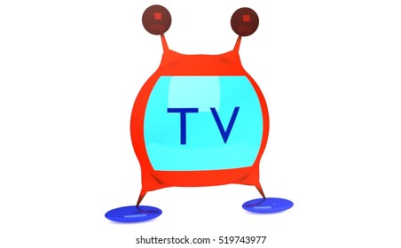 TV, 3d illustration