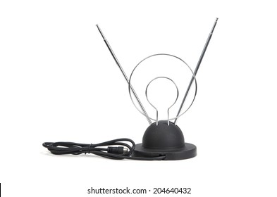 tv antenna isolated on white