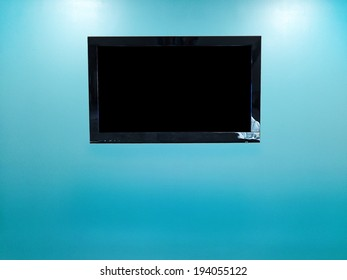 TV in the blue room