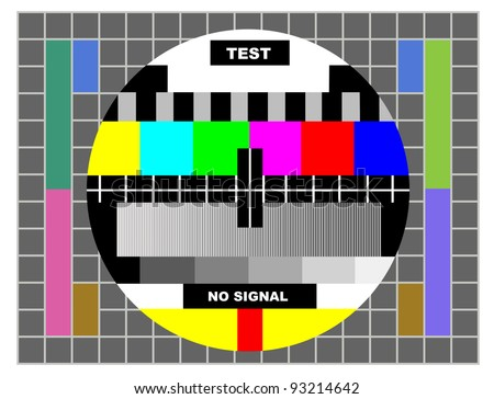 tv color test pattern test card の写真素材 今すぐ編集 93214642