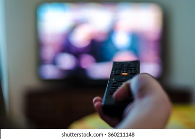 tv control in the hand