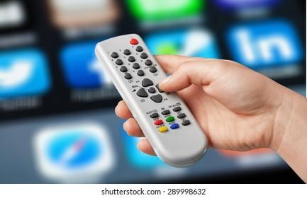 Tv, control, media.