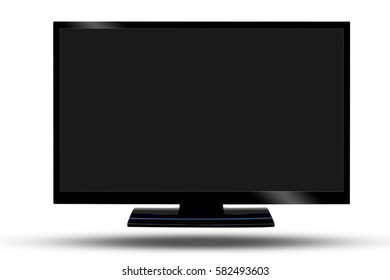 TV flat screen lcd, Widescreen show your presentation on display device